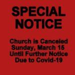Special Notice Covid-19